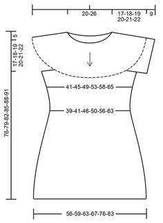 Grace in Lace / DROPS 175-30 - Dress crochet from the top down with round yoke, lace pattern and short sleeves in DROPS Safran. Size: S - XXXL - Free pattern by DROPS Design