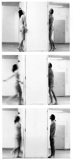 Interruption In Space, Marina&Ulay, 1977, Düsseldorf An evolution of their first piece together, Relation in Space, this piece was identical except for the meter-and-a-half thick wall separating them. Both artist ran towards each other at increasing...