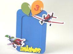 Porta Retrato foto 10x15cm Aviões da Disney-Cortes para Montar  www.petilola.com.br