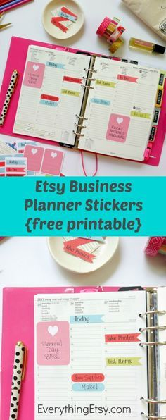 Etsy Business Planner Stickers - Free Printable for Filofax on EverythingEtsy.com