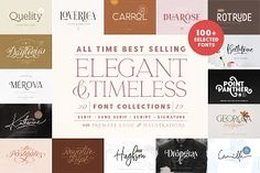 Elegant Timeless Font Bundle… by Sarid Ezra on 100 Fonts, Font Creator, Heart Font, Ios, Android, Beautiful Fonts, Font Family, Cool Fonts, Iphone