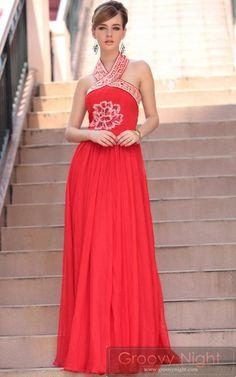 明るめレッド系で華やかに!目を引くデザインロングドレス♪ - ロングドレス・パーティードレスはGN|演奏会や結婚式に大活躍!
