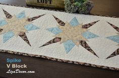 Patchwork Spike + V Block - LizaDecor.com Kombinace vzorů #patchwork #tutorial #vzory #šablony #video #lizadecor #quilt #quilting #pravítka