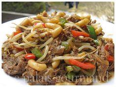 Le palais gourmand: Macaroni chinois Asian Recipes, Beef Recipes, Chicken Recipes, Cooking Recipes, Ethnic Recipes, Chinese Recipes, Chinese Food, Recipies, Beef Chop Suey