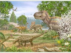 A Cretaceous Scene with Tyrannosaurus