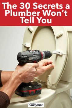 The 30 Secrets a Plumber Won't Tell You Household Cleaning Tips, Cleaning Hacks, Handy Man, Home Fix, Diy Home Repair, Diy Home Decor Bedroom, Diy Crafts Hacks, Home Repairs, Bathroom Cleaning