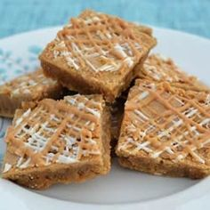 White Choc. Peanut Butter Blondies by SimplySouthernBaking