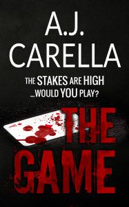 """FREE-Romantic Suspense-""""The Game"""" The Game by A.J. Carella FREE NOWon Kindle for a Limited Time ONLY!  Tara and Kyle come from completely different backgrounds but fate throws them together. Kyle is damaged from the loss of his family. A series of bad decisions have left him working for the very criminals he once sought to put away. His heart is frozen and he cares about nothing, least of all himself. Tara, given away by her mother when she was a child, has never known lov"""