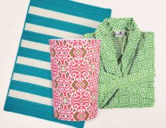 I pinned this from the Preppy Bath - Monogrammed Shower Curtains, Towels & More event at Joss and Main!