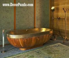 luxury bathtubs for modern bathroom, most expensive bathtub wood designs