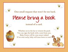 High Quality Winnie The Pooh Baby Shower / Bring A Book By Createphotocards4u, $10.00