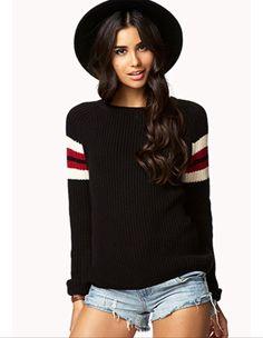 Striped raglan sweater - forever 21