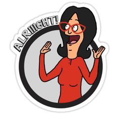 """alriiight!"" Stickers by allie mae 