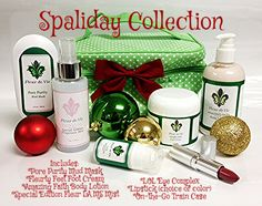 Enjoy our Spaliday Collection for FREE for hosting a Vie Party, now through Dec. 15th, 2014!!!  It includes Pore Purity, Amazing Faith Lotion, Special Edition Fleur LA MS Mist, Fleurty Feet, LOL, Lipstick (choice of color) & On-the-Go Bag!!  ($174.50 Value)  www.fleurdevie.co/