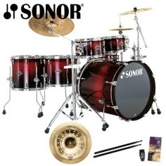 Sonor Select Force S Drive Smooth Red Burst 6-Piece Drumset - Sabian Vault Holy China Included with Purchase! by Sonor Drums. $1299.00. Select Force Series - The cool way to join the professionals The SONOR Select Force Series is the pinnacle of the new Force range. The Select Series is a set for every drummer: designed especially for advanced and semi-professional drummers, Select Force drum sets can also be an interesting alternative for professional drummers. A wide array of...