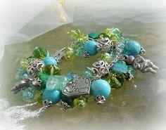 Goddess Gaia charm braclet Perfect for by SpellboundOriginalz