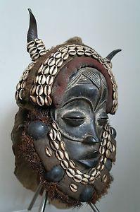 Rare 'Conductor' ceremonial Dan Deangle headdress mask (via Ethnic-hut)