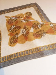 Swedish mid century tablecltoh/tablemat . Vintage 50s by Inspiria, $18.00