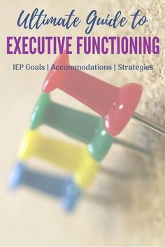 Everything Executive Functioning: Essential resource for focus and attention goals, organizational IEP Goals, classroom accommodations and more. High Functioning Autism, Executive Functioning, Iep Meetings, Adhd Strategies, Adhd Kids, Therapy Activities, Therapy Ideas, School Psychology, Learning Disabilities