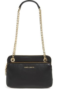 Vince Camuto 'Small Lizel' Leather Convertible Crossbody Bag available at…
