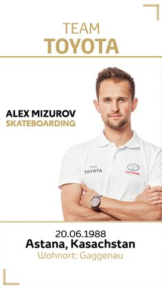 Team Toyota Deutschland: Alex Mizurov.  Disziplin/Sportart: Skateboarding. #teamtoyota #teamtoyota_de #sport #olympics #paralympics #nichtsistunmöglich #roadtotokio Team Toyota, Polo Shirt, Mens Tops, Olympic Games, Germany, Polos, Polo Shirts, Polo