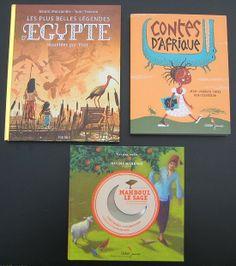 Partons en voyage au travers de 3 livres pour enfants de contes et légendes africaines.