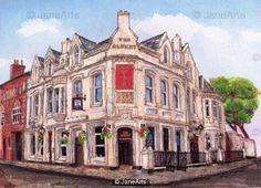 the albert lark lane liverpool by jane adams Urban Landscape, Light And Shadow, Liverpool, Original Art, Fine Art, Jane Adams, Architecture, House Styles, City