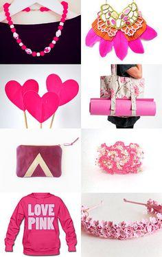 Pink Holidays by Mandarina on Etsy--Pinned with TreasuryPin.com