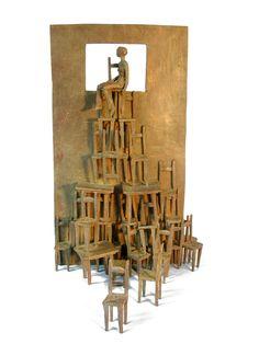 Avalanche de chaises, bronze, Beatrice Bizot