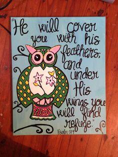 Owl canvas I made :)