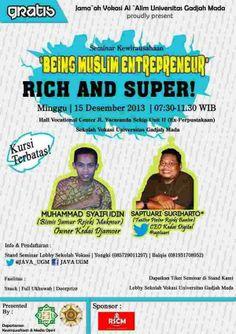 Seminar Kewirausahaan Being Muslim Entrepreneurs