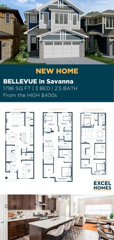 The Bellevue is a bright, open two storey laned home designed with families in mind with three separate living areas and a mudroom to keep things organized. 1795 Sq. Ft. | 3 Bedrooms | 2.5 Bathrooms | Starting from the HIGH $400s #CalgaryHomeBuilder #CalgaryHome #AlbertaRealEstate #3BedroomHome #FloorPlan #LivingRoomDesign