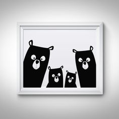 Bear Family Modern Nursery wall art Large Printable! INSTANT DOWNLOAD digital files! Stop waiting for shipping – these files are ready to download immediately! What's so great about digital prints? Well, there's no need to wait days for the mail to come – all files are available once your payment has cleared. That means you save time and money on shipping! This listing includes 4 instantly printable downloadable digital files! Your order will include the following: - 16x20JPG - 11x14 JPG ...