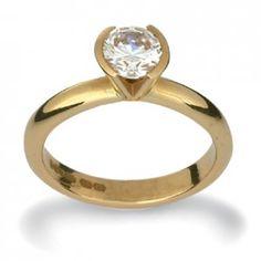 Gold & Diamond Engagement Ring