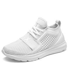 b1fbca6166792 Transpirable Zapatos para correr para hombre negro blanco Zapatos de deporte  Zapatillas de deporte de los