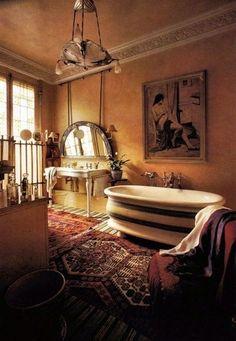 Bohemian bathroom beauty. / bath ideas - Juxtapost