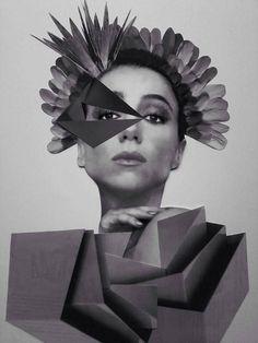 Intervenção artística da Kasal na atriz Marisa Orth. #marisaorth #atriz #colors  #artecollage #colagem #art #gallery #surreal #fotografia #galeria #photography #paperart #mulher #intervenção