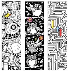 Usborne bookmarks and colouring pages.