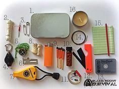 Black scout survival: how to build a survival tin survival kit, survival su