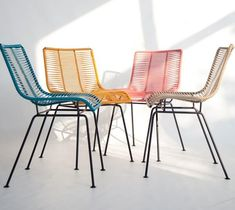 Vintage Furniture Design, House Furniture Design, Handmade Furniture, Chair Design, Rattan Furniture, Leather Furniture, Furniture Decor, Outdoor Furniture, Colorful Chairs