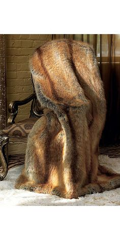 Donna Salyer's Fabulous Furs Link |                                              Limited Edition Golden Fox Faux Fur Throws