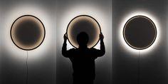 Tilen Sepic Eclipse | LampTwist Deco Design, Lamp Design, Lighting Design, Lighting Ideas, Person Silhouette, Slider, A Perfect Circle, Wooden Lamp, Diffused Light