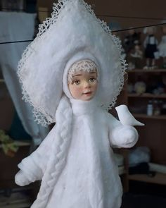 Снегурка Christmas Angels, Christmas Art, Christmas And New Year, Vintage Christmas, Snow Maiden, Ded Moroz, Cotton Crafts, Clay Baby, Russian Fashion