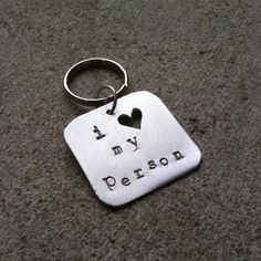 Something special for your best friend: Pet Tag  I Love My Person by lofteddesigns on Etsy, $12.00