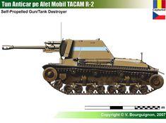 TACAM R-2 Military Armor, Tank Destroyer, Model Tanks, Armored Fighting Vehicle, Ww2 Tanks, Tank Design, World Of Tanks, Military Equipment, Star Wars Clone Wars