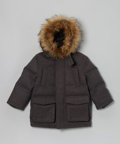 For everything from snowy strolls to sledding, this cozy coat will be an active kid's best friend when chilly weather comes to town. Faux fur trim adds a toasty, stylish touch to this ruggedly made piece.
