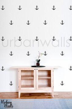 Anchors Vinyl Wall Sticker Decal by urbanwalls  For a nautical bathroom!