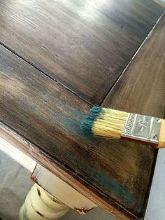 сухая кисть старая техника дерево, меловой краски, как, расписная мебель
