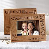 Buy Godfather & Godmother Personalized Godparent Picture Frames you can customize with your own text to create a unique gift for any godparents. Personalised Christening Gifts, Godparent Gifts, Baptism Gifts, Godparent Ideas, Baptism Ideas, Baby Boy Baptism Outfit, Baby Baptism, Godfather Gifts, Personalized Photo Frames