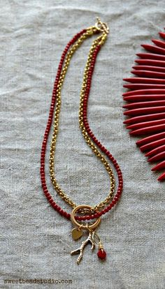 Nina Designs necklace with bamboo charm by Cindy Wimmer